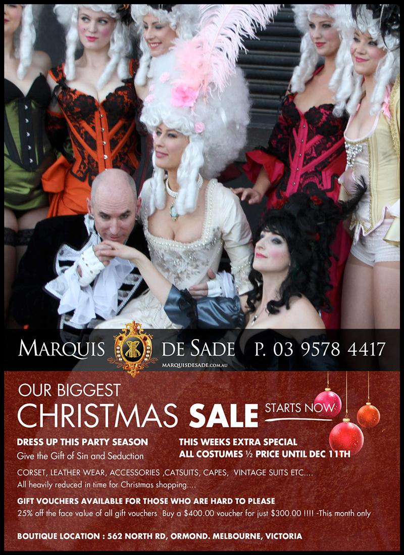 Marquis De Sade Christmas Sale